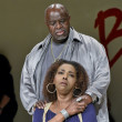Akin Babatunde and Liz Mikel in Dallas Theater Center's Inherit the Wind