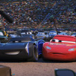 Jackson Storm and Lightning McQueen in Cars 3