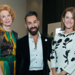 Patricia Jeffries, Fady Armanious, Stephanie Tsuru at Oscar de la Renta fashion show at MFAH