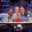 Keala Settle, Jessie Mueller, and Kimiko Glenn in Waitress on Broadway