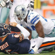Dallas Cowboy DeMarcus Ware sacks Jay Cutler