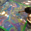 Nasher Xchange sidewalk chalk art