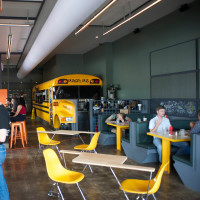 20 first look at Bernie's Burger Bus restaurant June 2014 interior