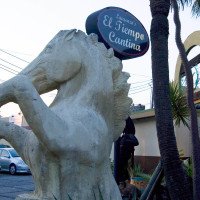 Places-Eat-El Tiempo Cantina-Richmond-horse sculpture-exterior-1