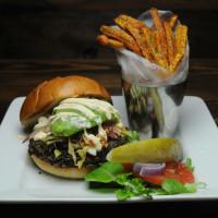 Sundown at Granada veggie burger