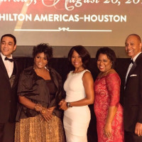 The Ensemble Theatre Gala, August 2016. Harry Lennix, Anna Maria Horsford, Angela Robinson, Paula McCann Harris, John Rolfe