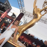 Heidi Klum in Michael Kors gown at Emmy Awards