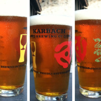 pint glasses Karbach Brewing Co. beer