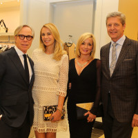 Tommy Hilfiger and Dee-Ocleppo-Hilfiger, from left, and Weezy and Bobby Dees at the CancerForward Key To The Cure Kick-off October 2014