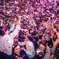 Cheering in the New Year at New Year's Eve at Local Pour January 2015