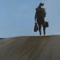 "Art of the World Gallery presents ""Second Exhibition: Julio Larraz"" opening day"