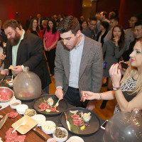 131 The crowd at the Asia Society Texas Center Kobe beef Cook-off December 2014
