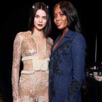 Houston, NYFW La Perla, Feb 2017, Kendall Jenner, Naomi Campbell