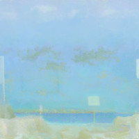 John Hartell, Dune Road, 1984, oil on canvas, 42 x 60 inches