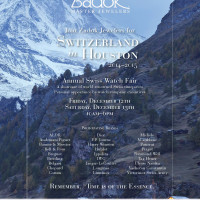 "Zadok Jewelers hosts ""Switzerland in Houston"""