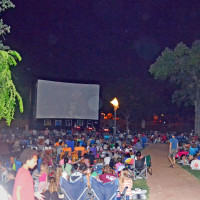 101X Summer Cinema_outdoor movie screen_Central Market Lamar_Austin_2014
