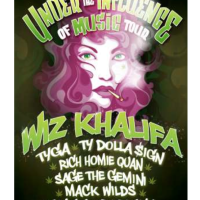"Wiz Khalifa in concert ""Under the Influence Music Tour"""