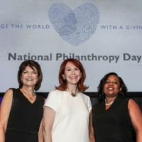 NPD Co-Chair Susan Coulter, NPD Chair Judy Howell, and AFP President Carme Williams