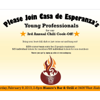 Third Annual Casa de Esperanza Young Professional Chili Cook-off