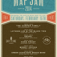poster of KUTX MapJam 2014 february 15