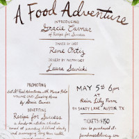 Flyer promotes Farmhouse Delivery's Food Adventure table dinner
