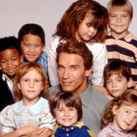 Arnold Schwarzenegger in Kindergarten Cop with kids