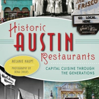book cover for Historic Austin Restaurants by Melanie Haupt