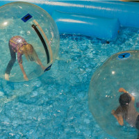 Bubble rollers at Travel and Adventure Show