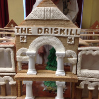 gingerbread house replica of Driskill Hotel