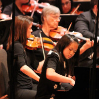performers during the Pearl Amster Youth Concerto Festival by Austin Civic Orchestra