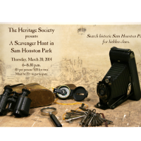 "Heritage Society hosts ""A Scavenger Hunt in Sam Houston Park"""