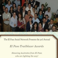poster for 2014 El Paso Social Network's Austin Trailblazers Reception