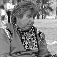 Sergey Vashchenko playing balalaika