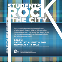 "2014 Memorial City Fashion Show ""Students Rock the City"""