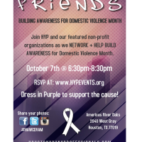 "Houston Young Professionals hosts ""Friends Building Awareness for Domestic Violence Month"""