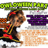 Funny Fur's Howl-O-Ween Fundraising Party benefiting Barrio Dogs