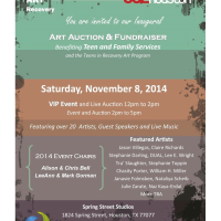 Teen and Family Services' Inaugural Art Auction and Fundraiser