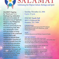 "Filipino Young Professionals of Houston hosts ""Salamat"""