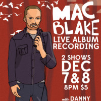 Mac Blake Live CD Recording Poster CROPPED - Cap City Comedy Club - December 2014