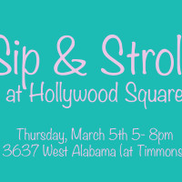 "Hollywood Square hosts ""Sip and Stroll"""