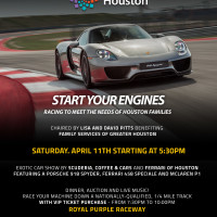 """Start Your Engines: Racing to Meet the Needs of Houston Families"" benefiting Family Services of Greater Houston"