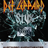 Def Leppard with Styx_Austin360 Amphitheater_poster_2015