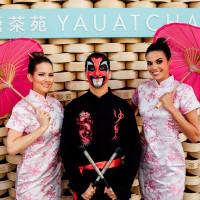 Yauatcha Opening Umbrella Girls at Social Media Booth
