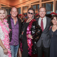 Amy Pierce, Rob Pierce, Jill Connor Browne, Neil Bush, Maria Bush at Sweet Potato Queens party