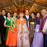 Asia Society Tiger Ball, March 2016, Alexander and Lou Ann Chae, Bonna Kol, Nancy C. Allen, Edward R. Allen III and Chinhui Juhn, Susan and Michael Jhin