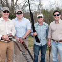 Jonathan Moseley, Todd Moore, Matt Strange, Max Mischer at Memorial Hermann Clay Shoot