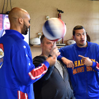 Globetrotters at Killen's barbecue