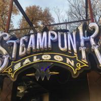 Steampunk Saloon Austin bar sign