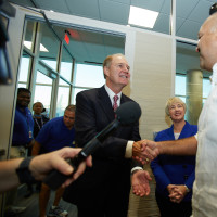 Southwest CEO Gary Kelly at opening of Hobby Airport international concourse