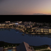 Boardwalk at Towne Lake night rendering